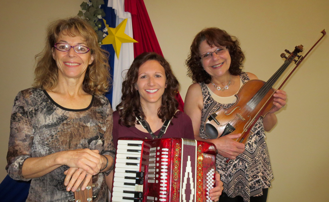Louise Arsenault, Helene Bergeron and Caroline Bernard